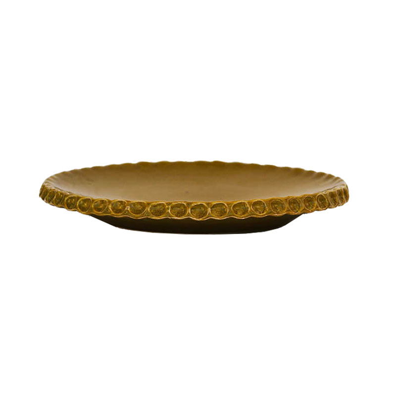 plate 23 cm olive