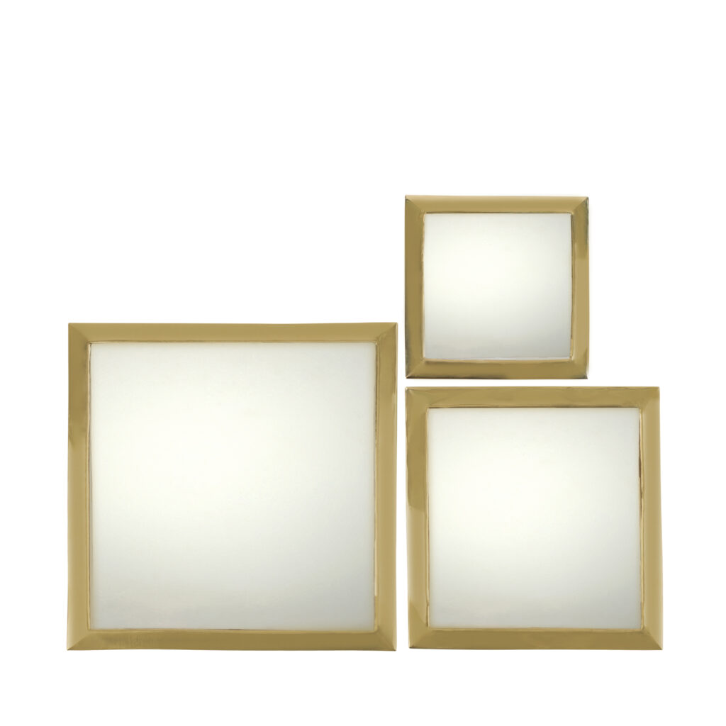 mirrors square copper set of three household hardware. Black Bedroom Furniture Sets. Home Design Ideas