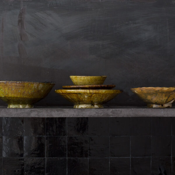 bowl conical mustard, 20 cm