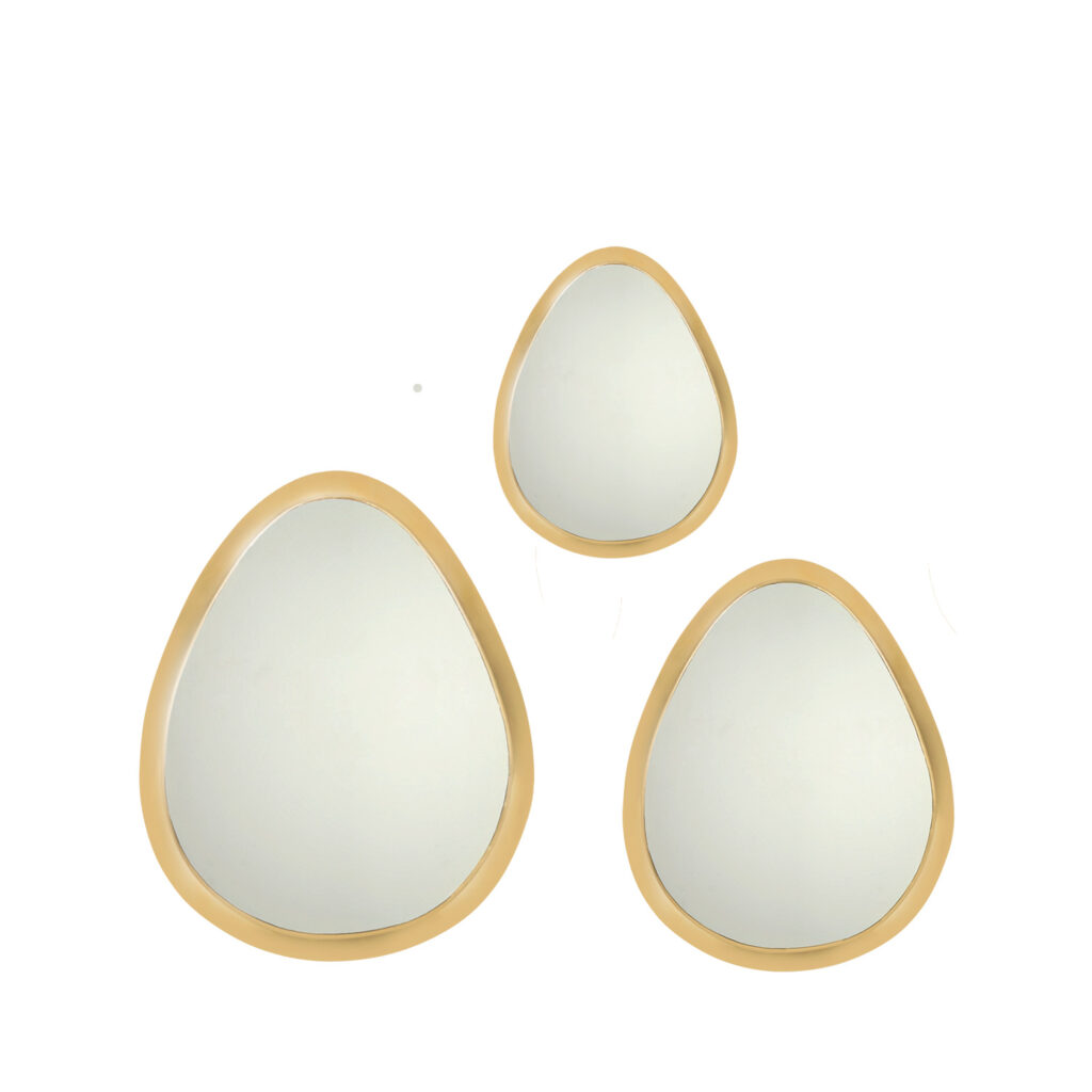 mirrors egg copper (set of three).