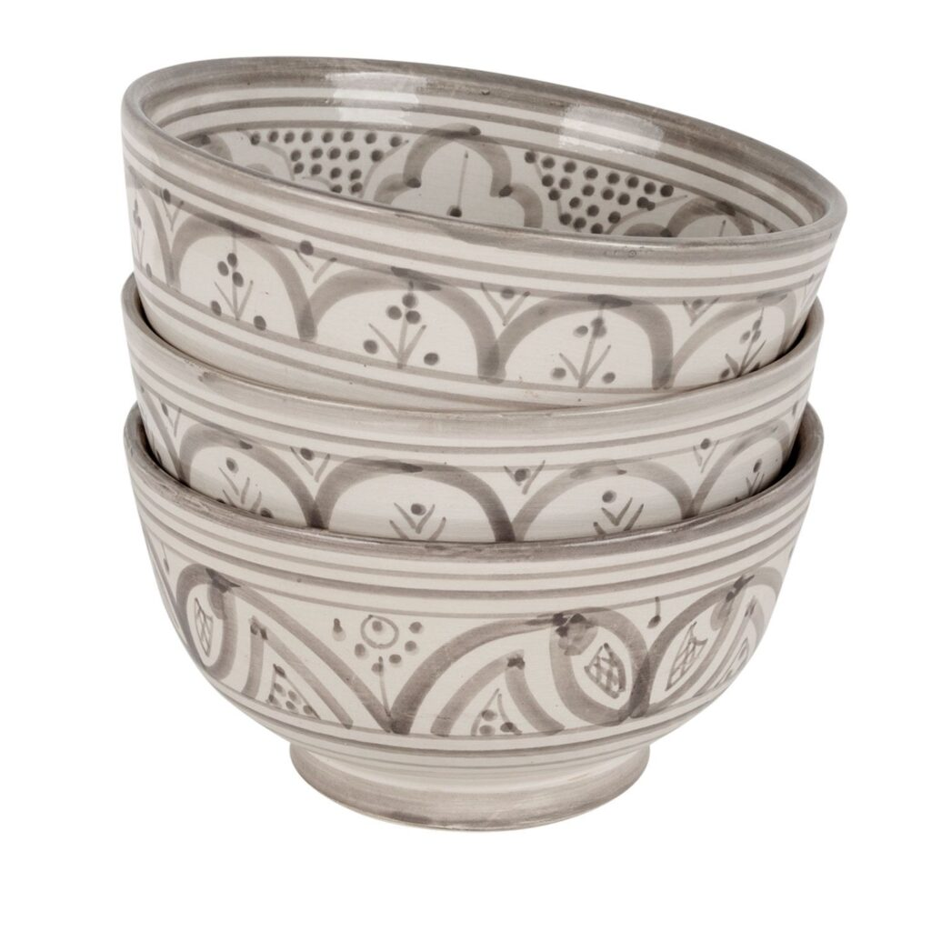 Moroccan bowl grey pattern