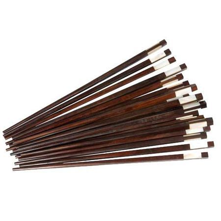 wooden chopsticks with pearl
