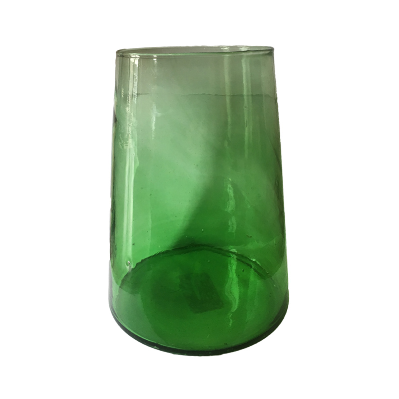 Vase conical green
