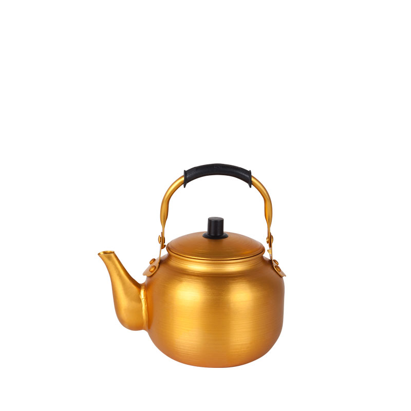golden tea pot