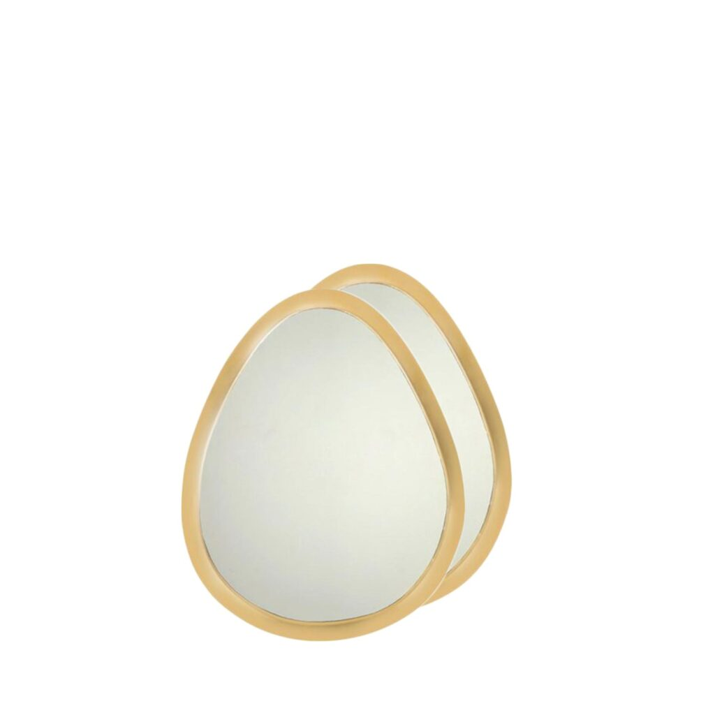 mirror egg XL copper (set of two).