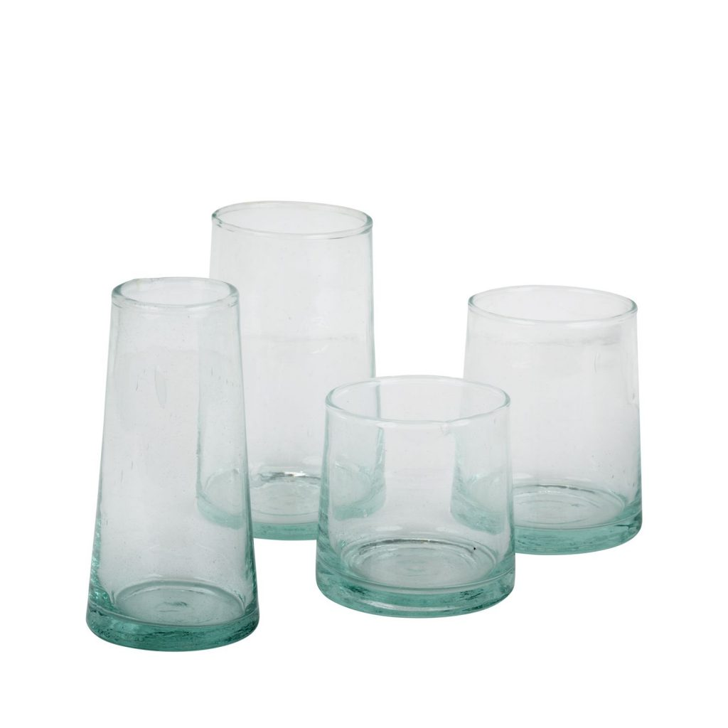 glass coneshaped S-M-L