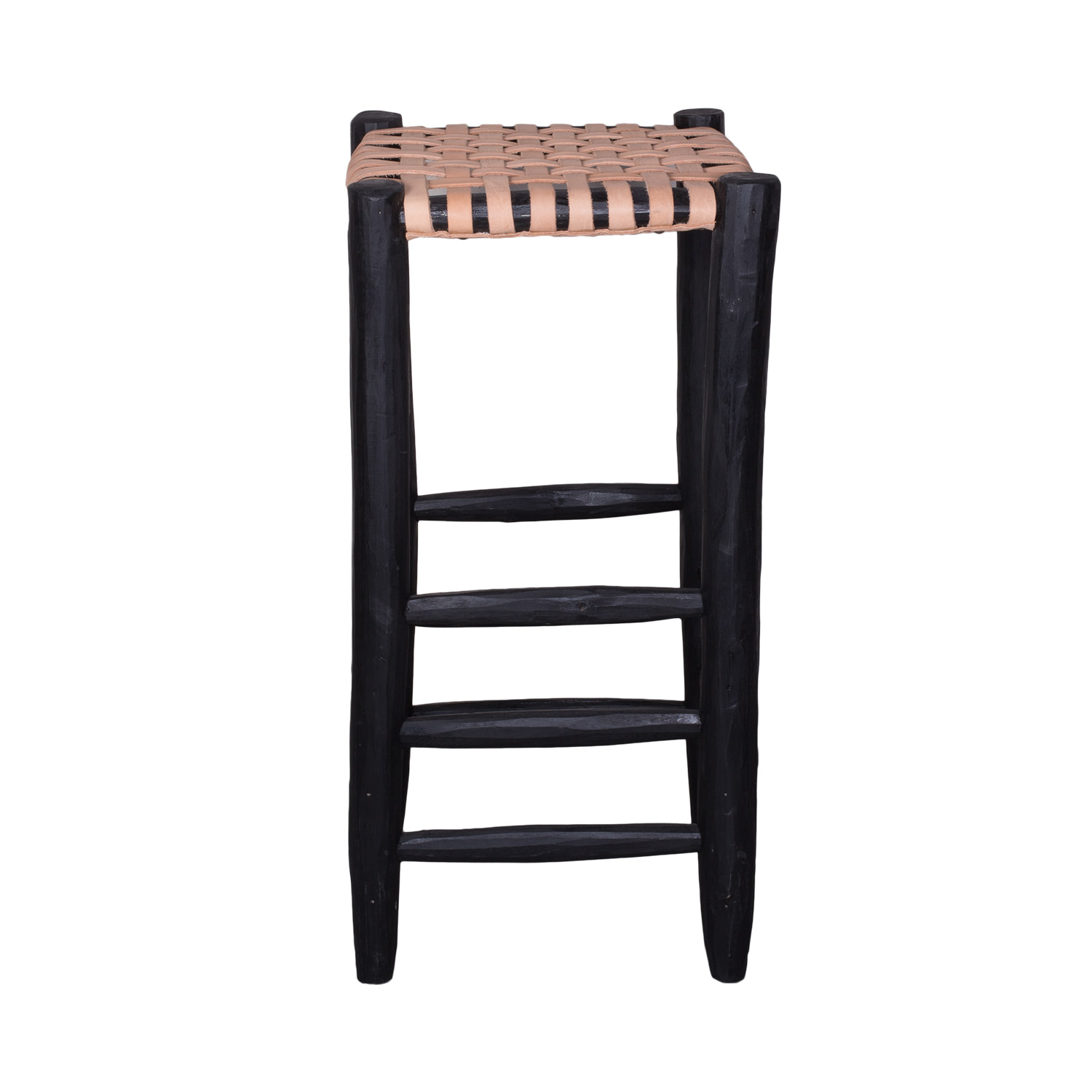 Awe Inspiring Barstool Black With Natural Leather Seating Household Hardware Gamerscity Chair Design For Home Gamerscityorg