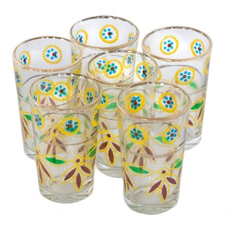 Moroccan tea glass with print