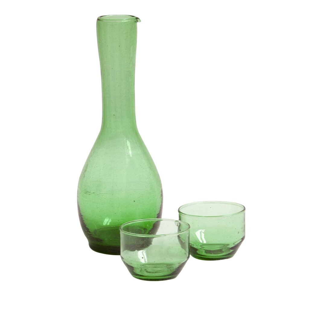 Bottle and glass 'Flat'